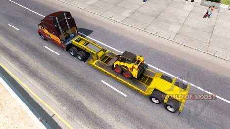 Низкорамный трал Bobcat 800 для American Truck Simulator