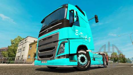 Скин EDCG на тягач Volvo для Euro Truck Simulator 2