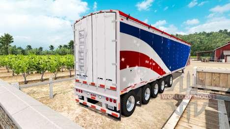 Полуприцеп Wilkens Walking Floor для American Truck Simulator