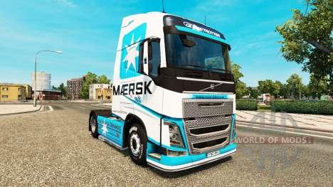 Скин Maersk на тягач Volvo для Euro Truck Simulator 2