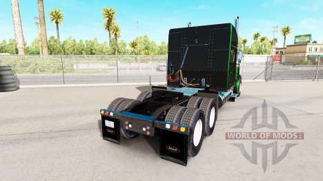 Скин Black Metallic Stripes на тягач Peterbilt для American Truck Simulator