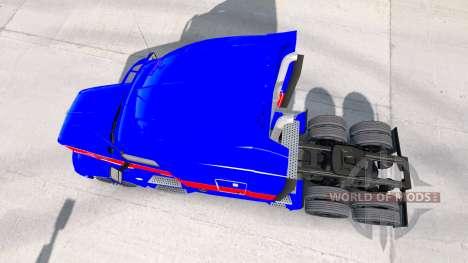 Красно-синий скин на тягач Peterbilt для American Truck Simulator