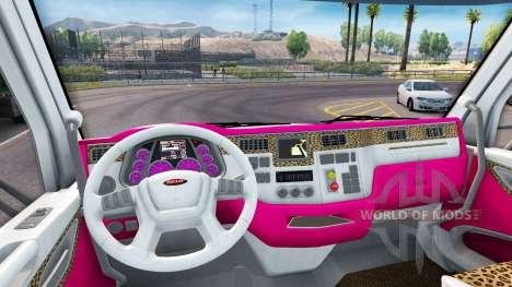Скин Girl Edition на тягач Peterbilt для American Truck Simulator
