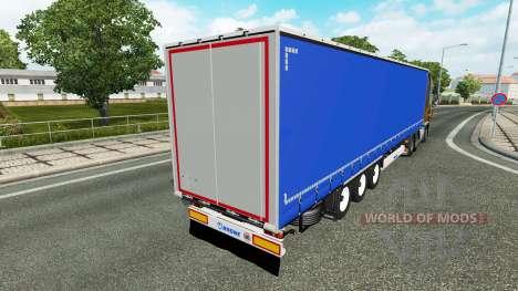 Шторный полуприцеп для Euro Truck Simulator 2