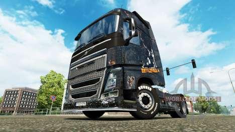 Скин Battlefield 4 v2.0 на тягач Volvo для Euro Truck Simulator 2