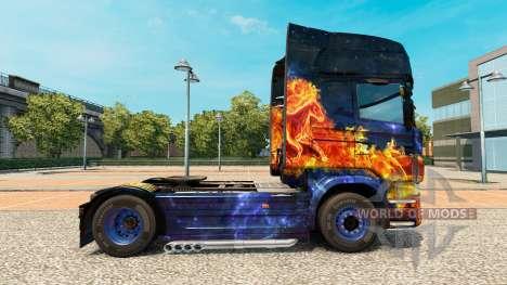 Скин Blue Fire на тягач Scania для Euro Truck Simulator 2