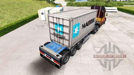 Полуприцеп контейнеровоз Maersk для American Truck Simulator