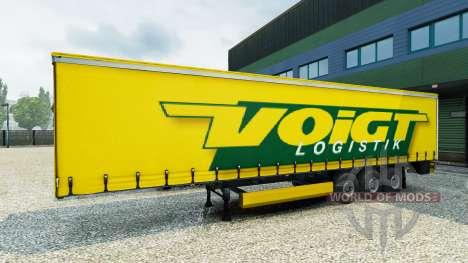 Скин Voigt Logistik v1.2 на полуприцеп для Euro Truck Simulator 2