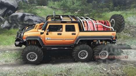 Hummer H2 6x6 [03.03.16] для Spin Tires