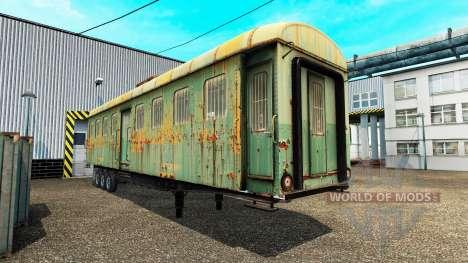 Полуприцепы с железнодорными составами для Euro Truck Simulator 2