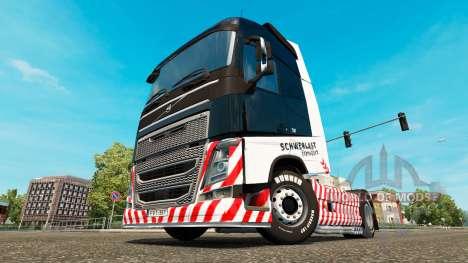 Скин Schwerlast Transport на тягач Volvo для Euro Truck Simulator 2