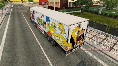 Скин Simpsons на полуприцеп для Euro Truck Simulator 2