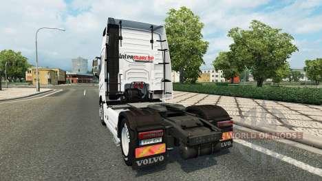 Скин Intermarket на тягач Volvo для Euro Truck Simulator 2
