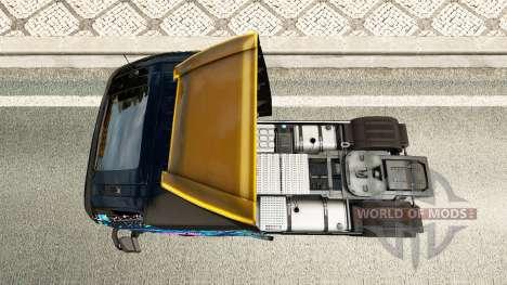 Скин Evil Eyes на тягач Volvo для Euro Truck Simulator 2