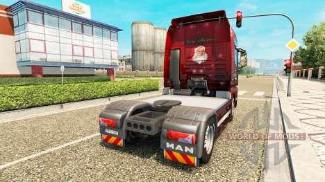 Скин Christmas на тягач MAN для Euro Truck Simulator 2