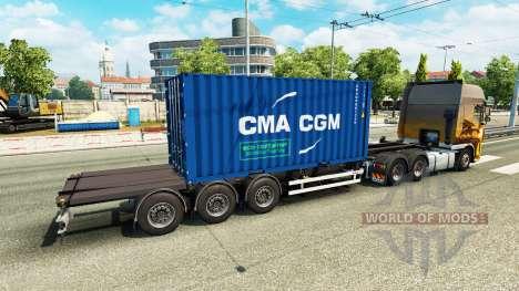 Полуприцеп контейнеровоз v2.0 для Euro Truck Simulator 2