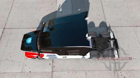 Скин Netstoc Logistica на тягач Kenworth для American Truck Simulator
