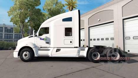 Скин Fed Ex на тягач Kenworth для American Truck Simulator