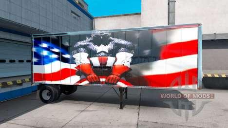 Скин Super Hero на полуприцеп для American Truck Simulator