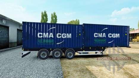Полуприцепы контейнеровозы для Euro Truck Simulator 2