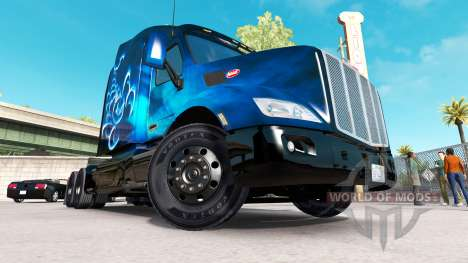Скин Scorpio Blue на тягач Peterbilt для American Truck Simulator