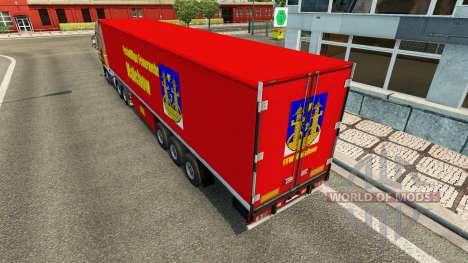 Скин FFW Malchow на полуприцеп для Euro Truck Simulator 2