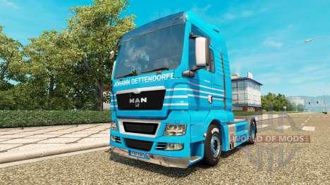 Скин Johann Detten Dorfer v1.1 на тягач MAN для Euro Truck Simulator 2
