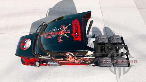 Скин Deadpool на тягач Peterbilt для American Truck Simulator