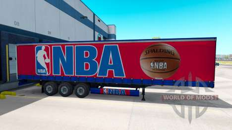 Скин NBA на полуприцеп для American Truck Simulator