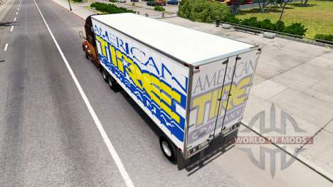 Скин American Tire на полуприцеп для American Truck Simulator