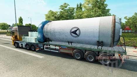 Полуприцеп с сосудом под давлением для Euro Truck Simulator 2