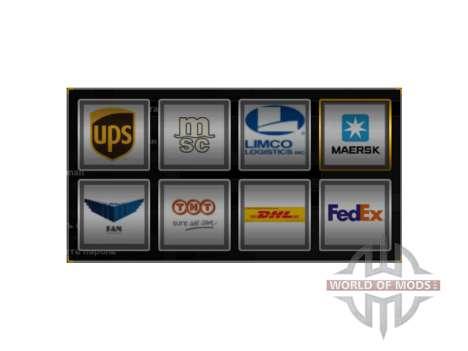 Реальные логотипы компаний для American Truck Simulator