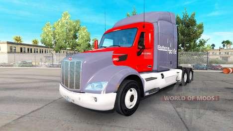 Скин Southern Pacific на тягач Peterbilt для American Truck Simulator
