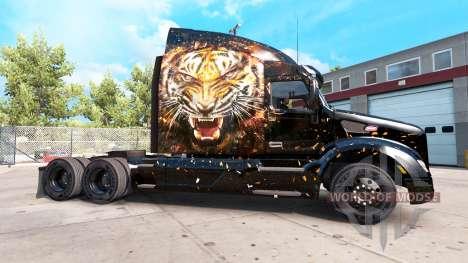 Скин Tiger на тягачи Peterbilt и Kenworth для American Truck Simulator