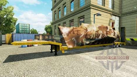Полуприцепы с военной техникой v1.1 для Euro Truck Simulator 2
