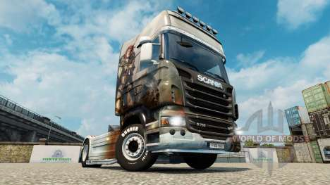 Скин Guild Wars 2 Norn на тягач Scania для Euro Truck Simulator 2