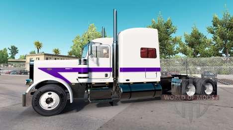 Скин White&Purple на тягач Peterbilt 389 для American Truck Simulator