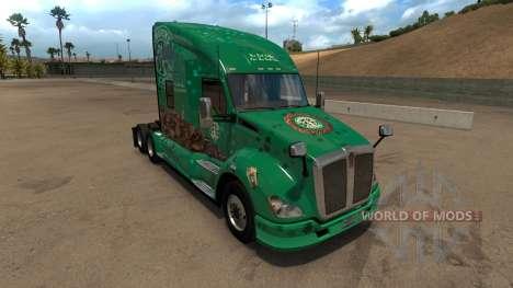 Kenworth T680 Starbucks Skin для American Truck Simulator