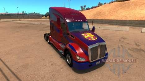 Kenworth T680 Barcelona Skin для American Truck Simulator