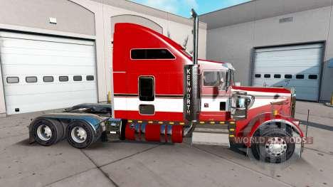 Скин Red на тягач Kenworth W900 для American Truck Simulator