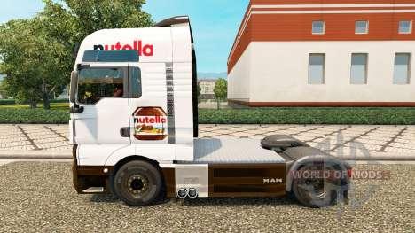Скин Nutella v2.0 на тягач MAN для Euro Truck Simulator 2
