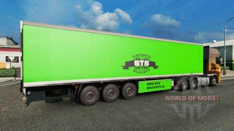 Скин BTB на полуприцеп для Euro Truck Simulator 2