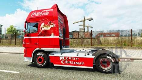 Скин Coca-Cola на тягач DAF для Euro Truck Simulator 2