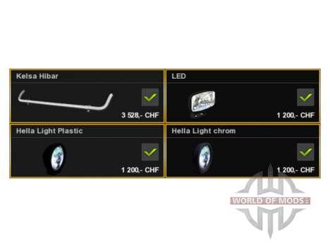 Лайтбар Kelsa для Euro Truck Simulator 2