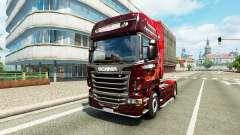 Скин Christmas на тягач Scania