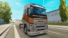 Скин Silver Transports на тягач Volvo