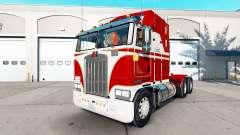 Скин White & Red на тягач Kenworth K100