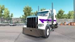 Скин White&Purple на тягач Peterbilt 389