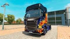 Скин Blue Fire на тягач Scania