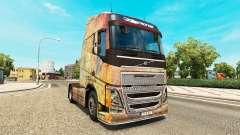Скин Nebula Grunge на тягач Volvo